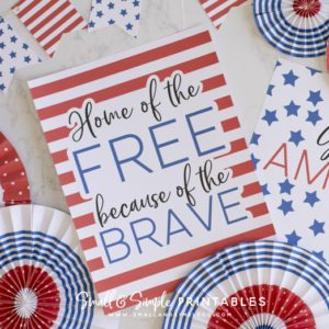 Small and Simple Printables 4th of july